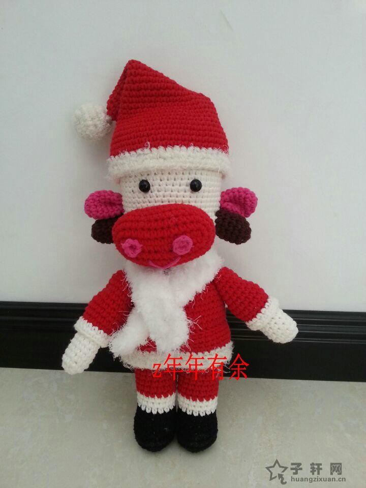 交作业了  圣诞牛牛 - 手工制作网 - 圣诞牛牛.jpg